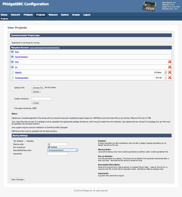 homeAutomation-webinterface