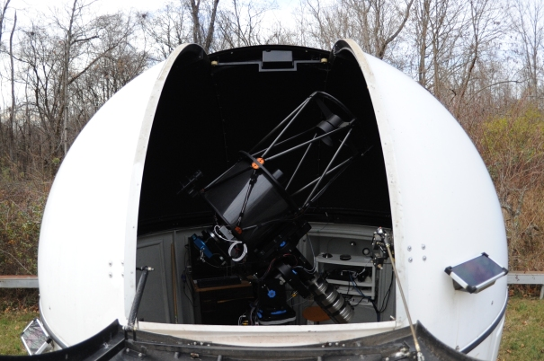 University of Louisville's Dome Telescope with the Shutter Open