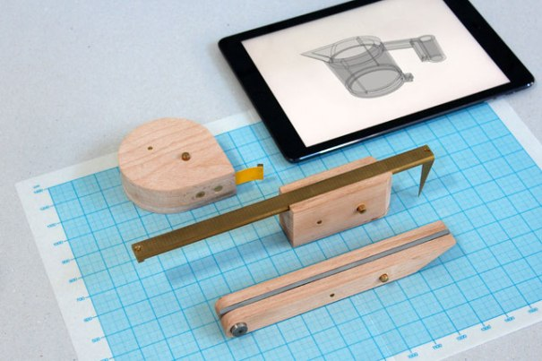 The wooden tools connect to 3D design software (Photo credit: Unfold)