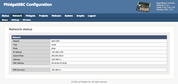 sbc web configuration